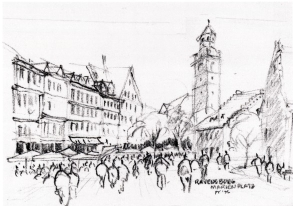 sketch of Ravensburg, Germany